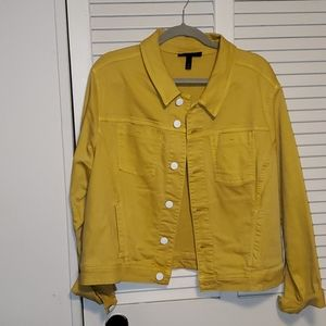 Lane Bryant Jean Jacket yellow